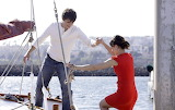 Girl, guy, couple, boat, sea, summer, happy, man, woman