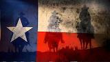 Cowboys and the Texas flag