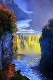 Yellow waterfall