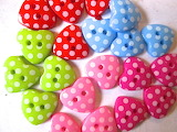 Polkadot cute buttons
