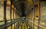 Gallery of the Old Library at Trinity College Dublin Ireland
