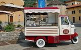 An Italian gelato truck