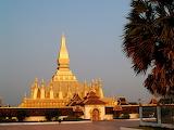 Golden Pagoda, Wat Pha ca Luang, Vientiane, Laos