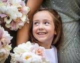 Excited Flower Girl