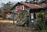 Old Car and Gas Pump