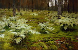 """Isaac Levitan """"Ferns in the forest"""""""