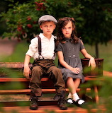 #Little Boy and Girl in Vintage Clothes