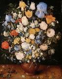 Jan Bruegel (I) - Bouquet of Flowers in a Ceramic Vase