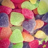 ^ Heart shaped gummies