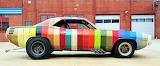 Rainbow Stripe Car