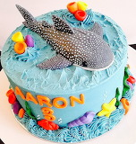 Whale shark cake @ Anita of Cake AU