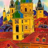 Red Roofs Prague by Yelena Sidarova