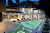 Beautiful contemporary mansion and pool