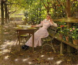 Isabella Koester in the Lamp Garden by Alexander Koester