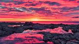 #Fiery Reflective Sunset