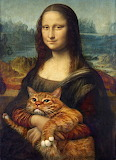 Cat and Mona Lisa