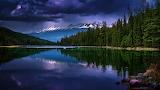 Alberta kanada dolina pyati ozer ozero gory otrazhenie 101523 19