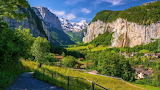 Dolina Lauterbrunnen w Szwajcarii
