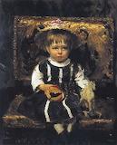 Портрет Віри Рєпіної, доньки художника, в дитинстві