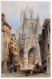 St Maclou, Rouen by Edwin Thomas Dolby