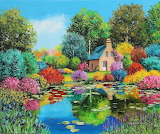 Flowered-pond-garden