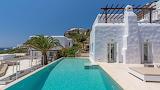 Seaview luxury villa, terrace and pool, Greek islands