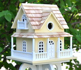 Colorful Cottage Bird House