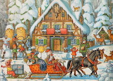 Forest Cottage Advent Calendar Calendar