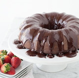 Chocolate cake with chocolate espresso ganache