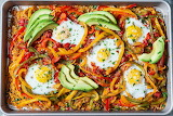 ^ Sweet potato hash