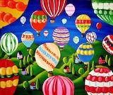 Sky Full of Hot Air Balloons by Renie Britenbucher