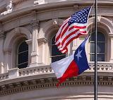 US flag with Texas flag