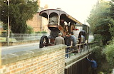Burrell Showmans engine Victorious taking water from Bradfords B