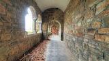 Church door at end of walkway