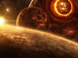 Sunset in Space