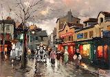 Rue Norvins Place du Tertre Montmartre by Antoine Blanchard