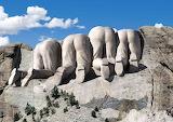 Mount Rushmore rear view