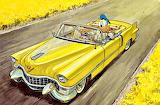 Donald Duck 50's Cadillac