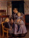 A Mother Tells Her Children Stories. Fritz Syberg 1898-1899