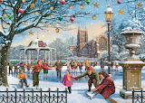 Festive Skaters - Vic McLindon