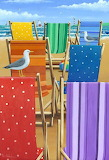 Rainbow Deckchairs - Peter Adderley