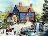 Americana_art_painting__Topiary_Falls