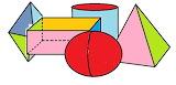 Назови геометрические тела на рисунке.