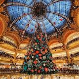 Galeries Lafayette Christmas tree Paris France