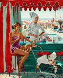 Babysitter at Beach Stand by George Hughes