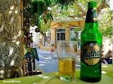 A Mythos beer at Kritsa