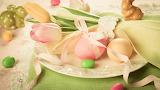 Easter - eggs - tulips - flowers
