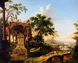 Italianate Landscape by Jan Baptist Huysmans