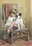 Sulla sedia col cane