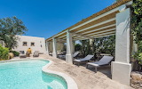Luxury Mediterranean swimming pool and garden terrace